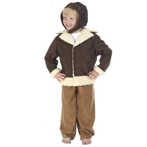 Children's Boys World War 2 WW2 Fighter Pilot Fancy Dress Up Costume
